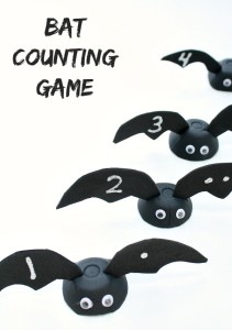 Bat Counting Game and Fine Motor Activity