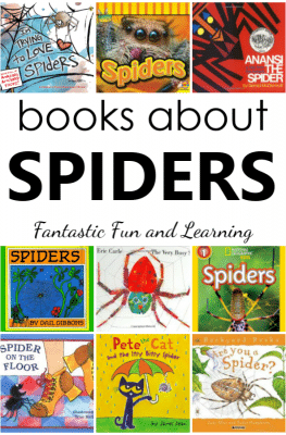 22 Super Spider Books for Kids. Favorite spider books for a preschool spider theme.