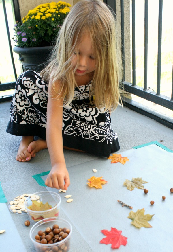 Fall Sticky Art for Toddlers