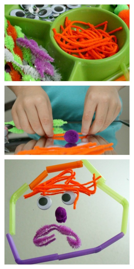 Monster Faces Creative Play Activity