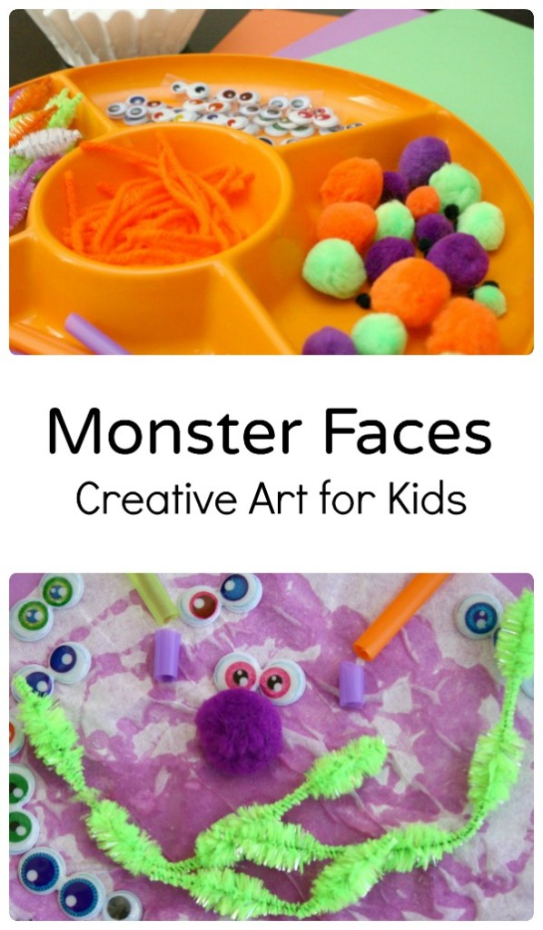 Monster Faces~Creative Art for Kids