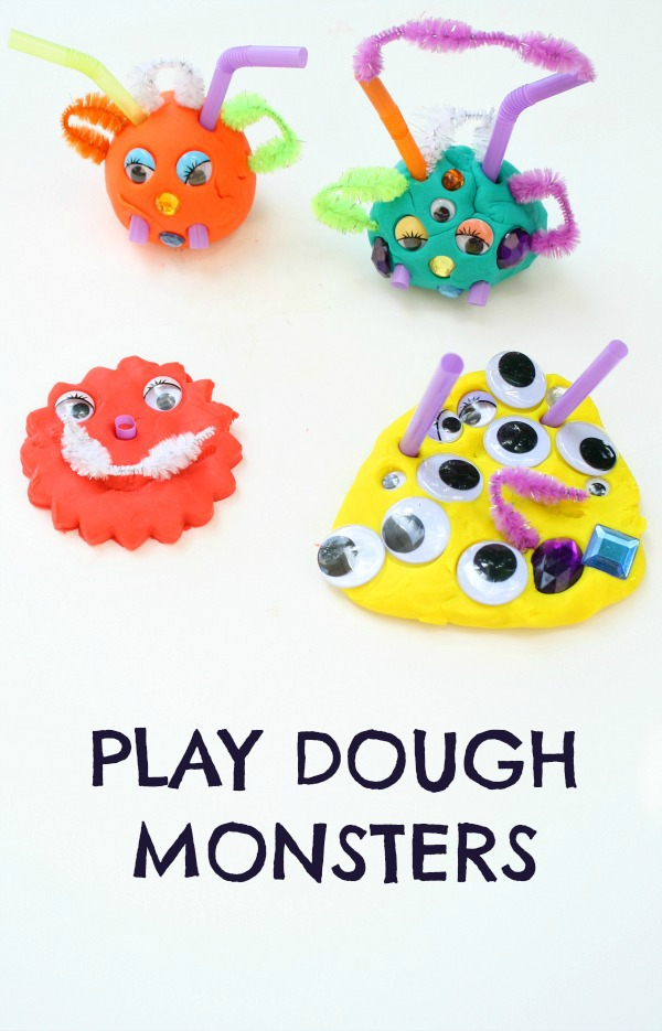Play Dough Monsters Creative Fine Motor Activity