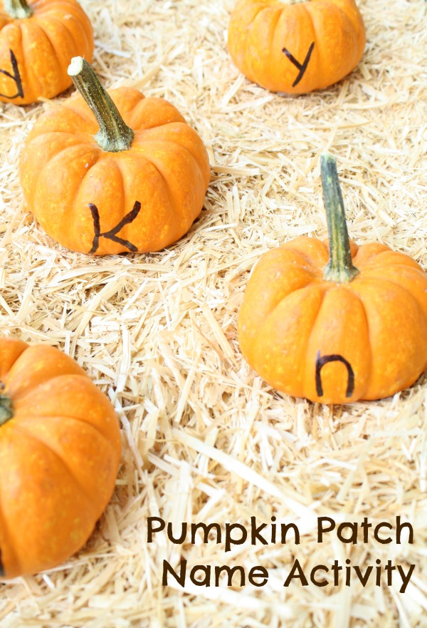 Pumpkin Patch Name Activity for Preschoolers