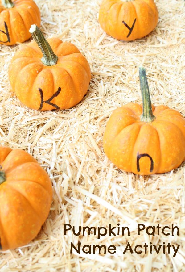 Pumpkin Patch Name Activity for Preschoolers