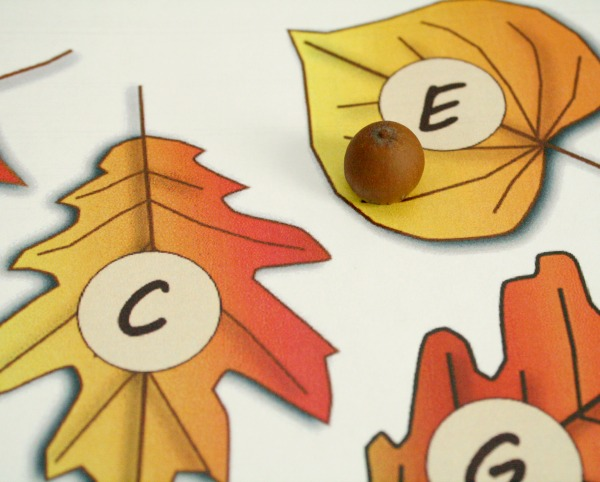 Roll and Say Alphabet Game for Fall