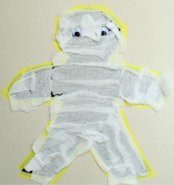 Sticky Wall Mummy Craft
