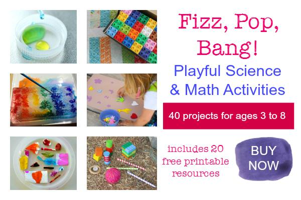 Buy Now-Fizz Pop Bang ebook with 40 projects for ages 3 to 8 and 20 free printable resources