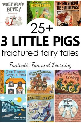 25+ versions of the Three Little Pigs and fractured fairy tales for kids