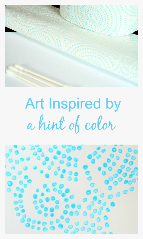 Art Inspired by a hint of color #SparkleTowels #hintofcolor AD