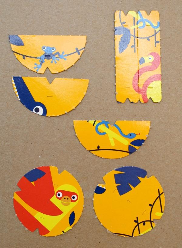 Cut-out pieces