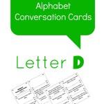 Letter D alphabet conversation cards