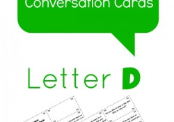 Letter D alphabet conversation cards