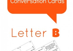 Letter B Alphabet Conversation Cards