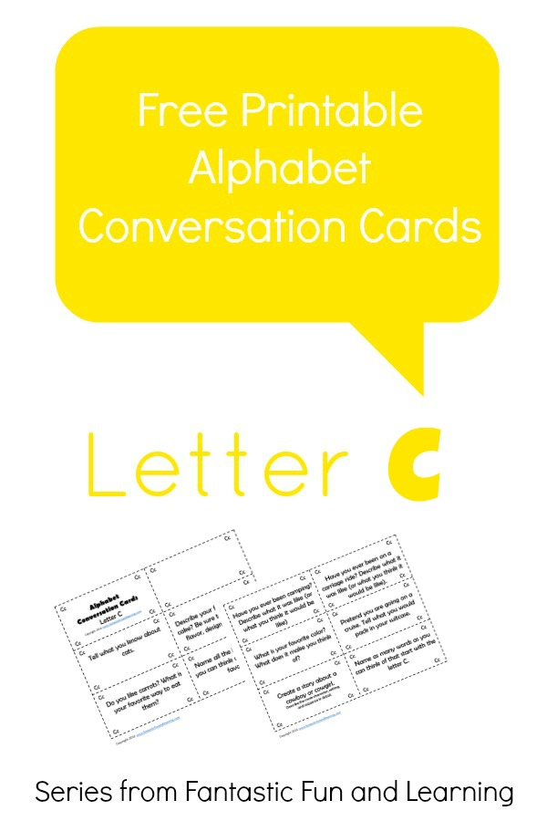 Free Printable Alphabet Conversation Cards-Letter C