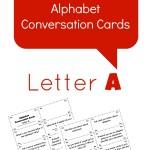 Free Printable Alphabet Conversation Cards~Letter A