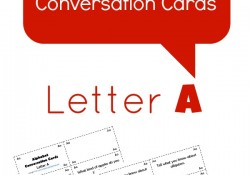Free Printable Alphabet Conversation Cards~Letter A