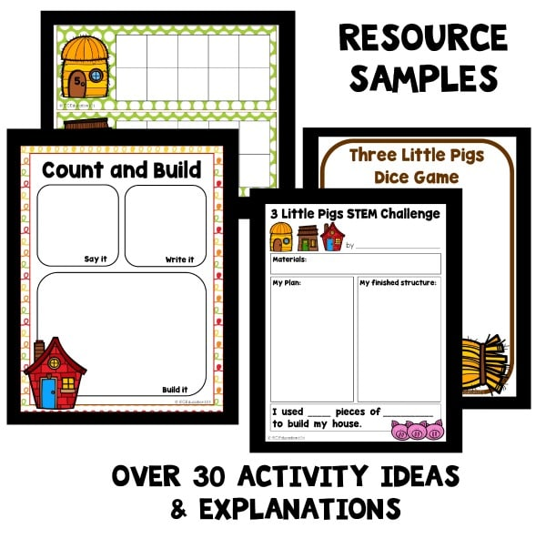 Science Experimental Design Worksheet: Wind Science Experiment Three Little Pigs Activity