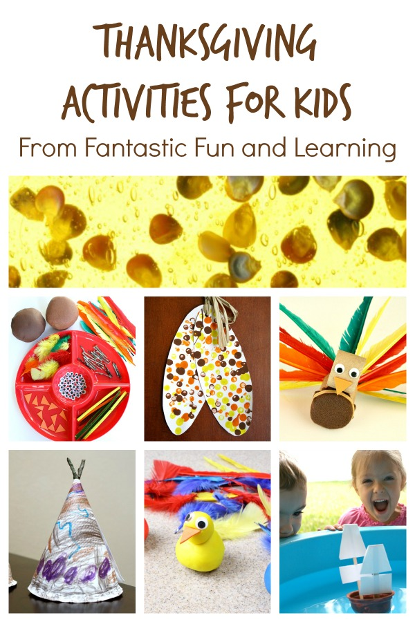 Thanksgiving Activities for Kids from Fantastic Fun and Learning-Sensory play, fine motor activities, learning games and more