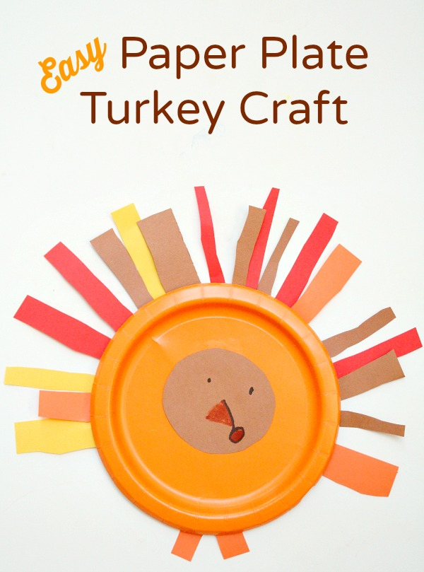 Easy Paper Plate Turkey Craft and Fine Motor Thanksgiving Activity