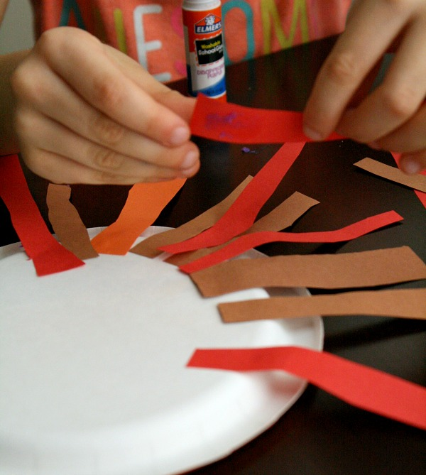 Fine motor cutting practice Thanksgiving activity