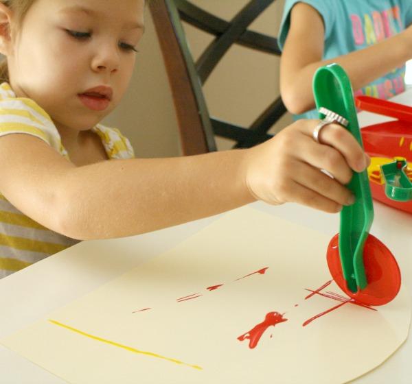 Preschool Painting Activity-Dough Cutters