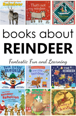 Reindeer Books for Kids. Books about reindeer for toddlers, preschool, and kindergarten