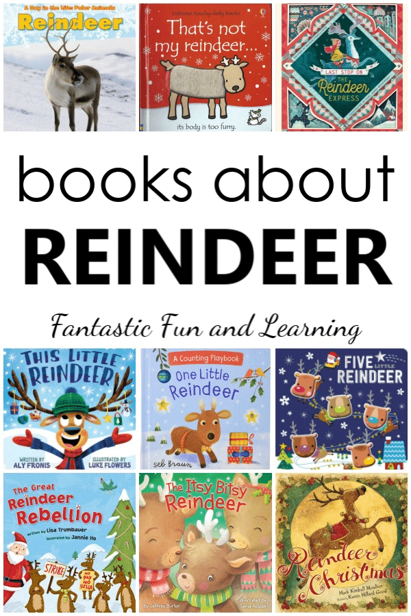 Reindeer Books for Kids. Books about reindeer for toddlers, preschool, and kindergarten