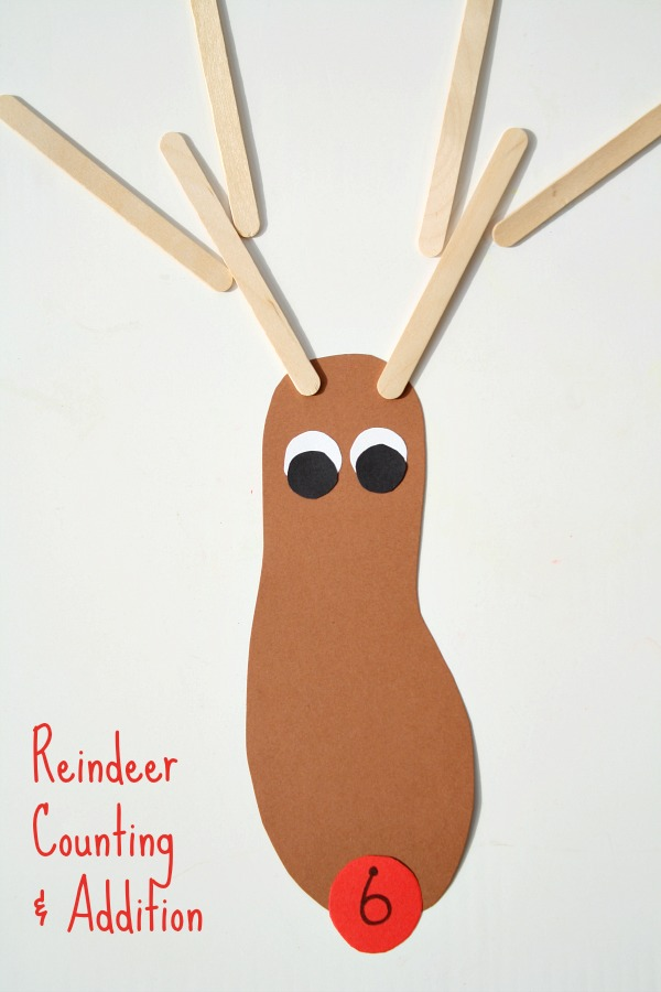Reindeer Counting and Addition Activity for Preschool and Kindergarten