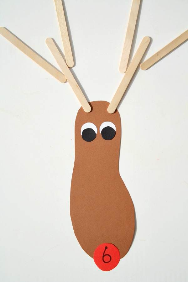Reindeer Counting and Addition Math Game for Kids