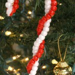 Beaded Candy Cane Ornament Craft for Kids