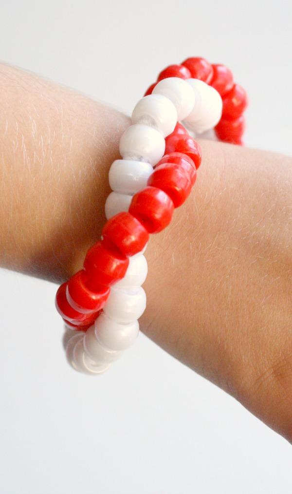 Candy Cane Bracelet Craft