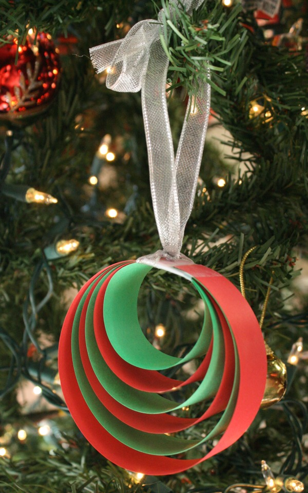 easy christmas ornament craft for kids - Easy Paper Christmas Decorations