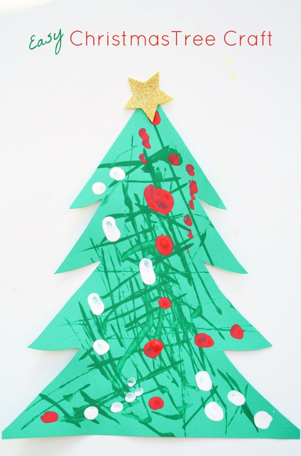 Lovely Easy Christmas Tree Craft Use Dough Cutters To Paint Your Own Christmas  Trees. Then