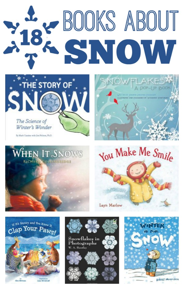 18 Books About Snow for Kids~Includes fiction and nofiction books that kids will love! #booklist #freeprintable #kidsbooks #preschool #winter