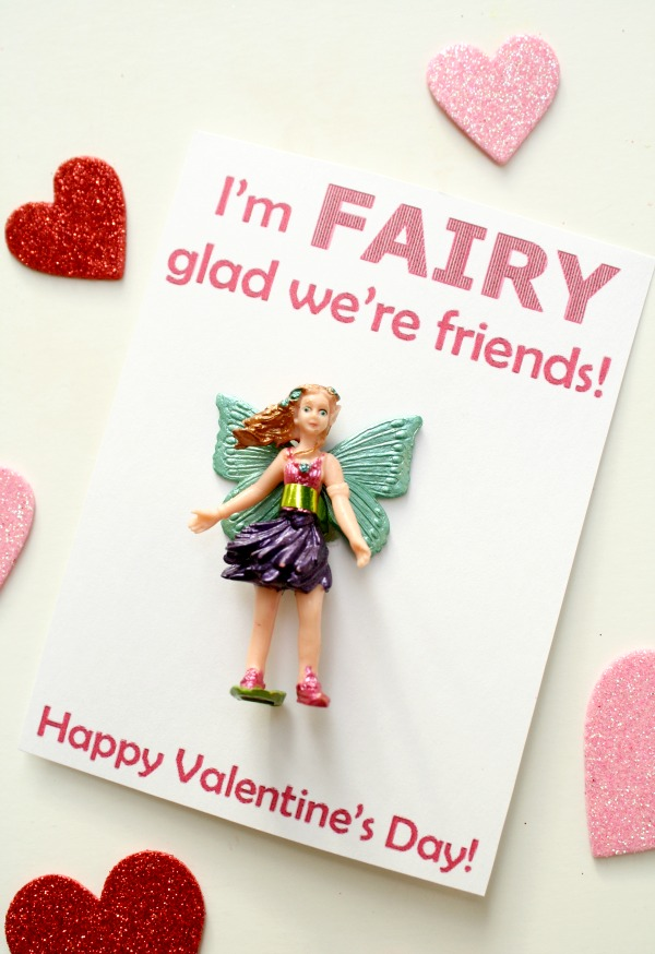 Candy-Free Valentine with Free Printable-I'm FAIRY glad we're friends
