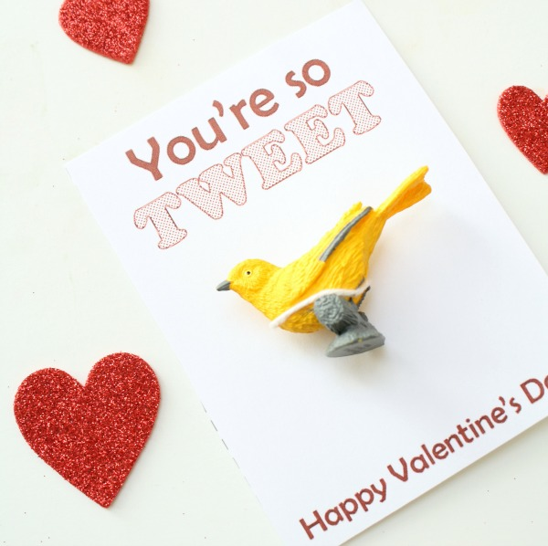 Candy-free Valentine with Free Printable