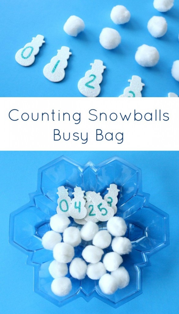 Counting Snowballs Winter Math Activity - Fantastic Fun & Learning