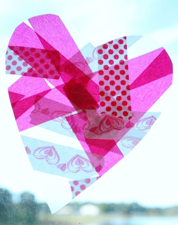 Easy Heart Suncatcher Valentine's Craft for Kids