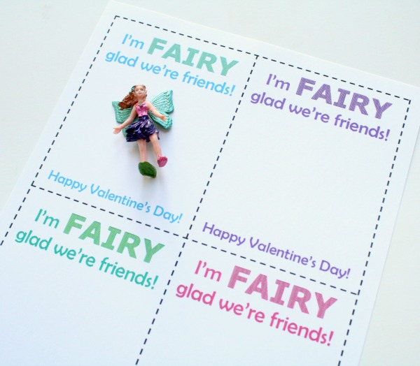 Fairy Valentine Free Printable for Kids