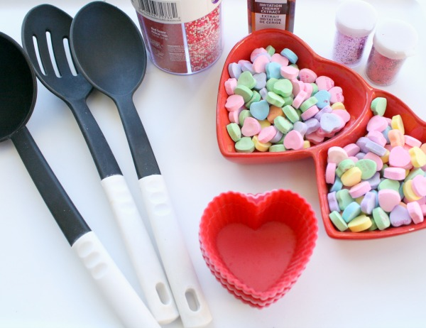 Materials for Valentine Water Play
