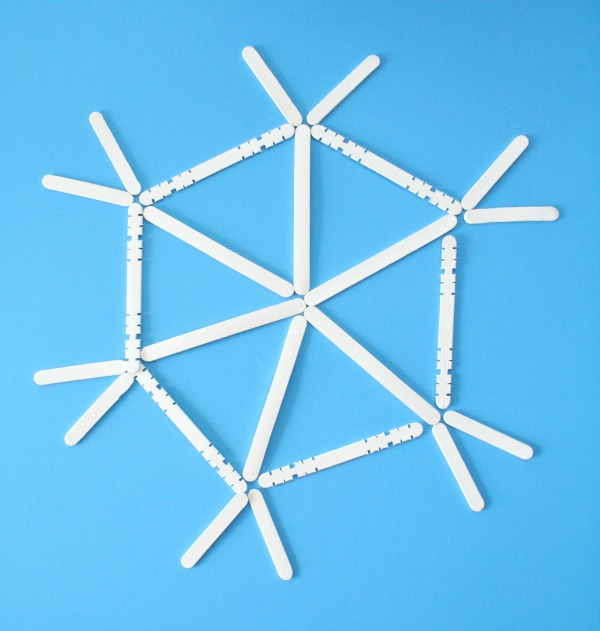 Popsicle Stick Snowflake Art