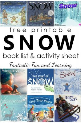 Books about Snow and Snowflakes. Snow Book List with free printable book list and activity sheet for preschool and kindergarten #winter #preschool #kindergarten #freeprintable