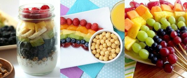 Rainbow Snacks with Fruit