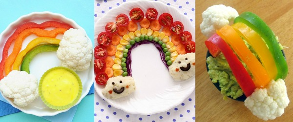 Vegetable Rainbow Snacks for Kids