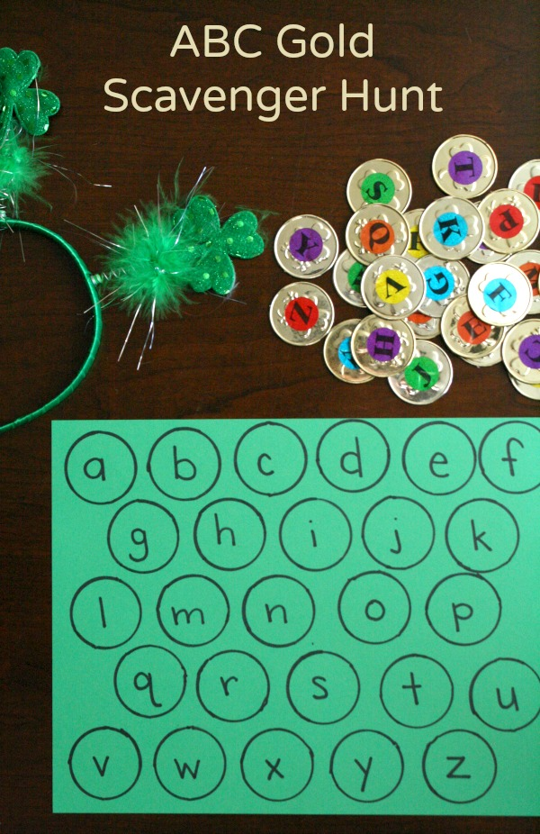 ABC Gold Scavenger Hunt St. Patrick's Day Activity