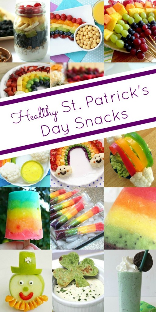 Healthy Rainbow and St. Patrick's Day Snacks~These look so yummy!
