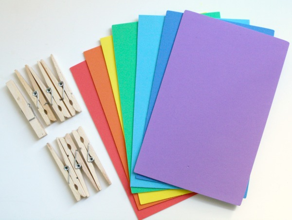 Materials for rainbow word game