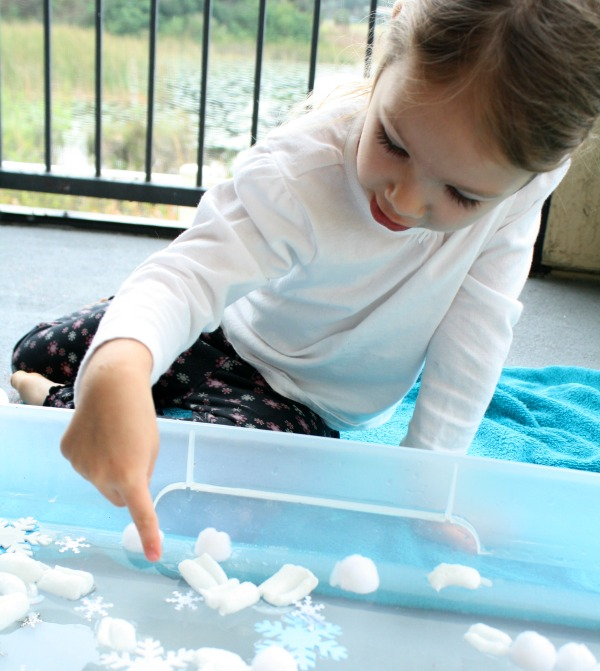 Preschool Water Play for Winter