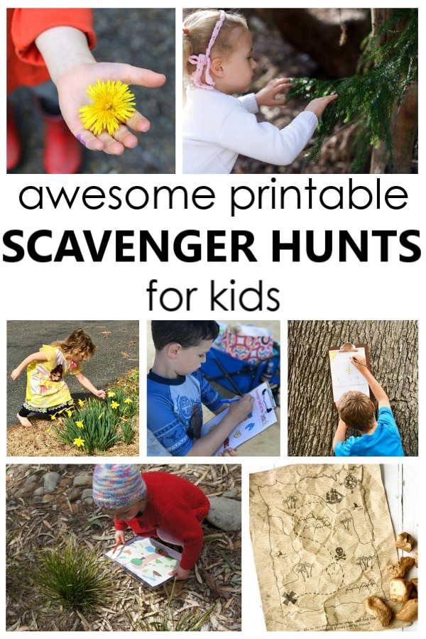 Awesome Free Printable Scavenger Hunts for Kids