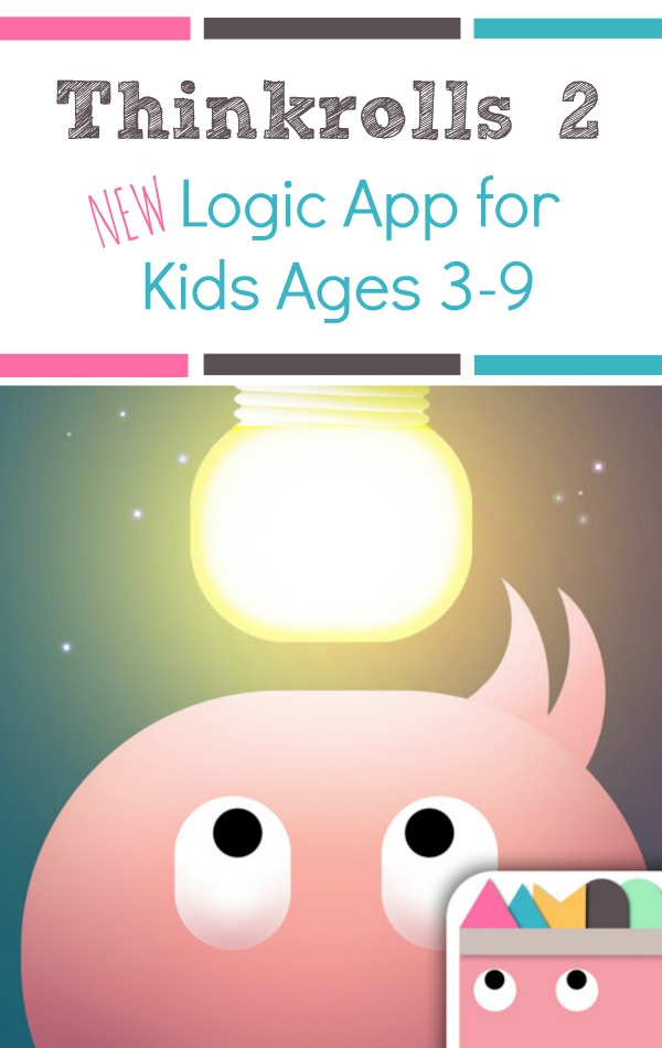Awesome New Educational App for Kids~Thinkrolls 2. Thought provoking logic puzzler for kids ages 3-9